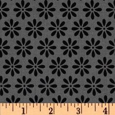 Riley Blake Tuxedo Collection Daisy Gray - Discount Designer Fabric - Fabric.com