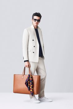 Top 5 Trends from Milan Fashion Week Spring/Summer 2015 image Bally Men Spring Summer 2015 011 -- I'd go for a different color with the bag, it seems to clash with the rest of the outfit. I love this look, though.