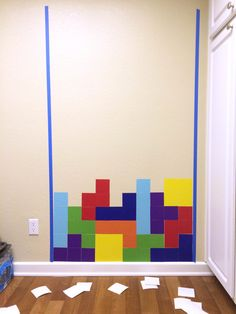 DIY Tetris game on your wall, with Peel & Stick posters in 4x4 from SnapBox Prints