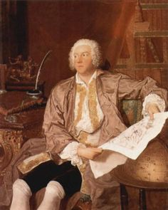 Portrait of Carl Gustaf Tessin, c.1740 - Francois Boucher Style: Rococo