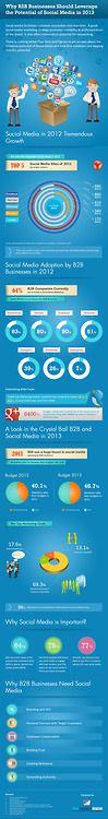 B2B et médias sociaux en 2013 via B2B Businesses and the Potential of Social Media Infographic