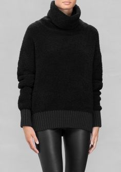 A cozy, furry-feel turtle neck sweater made from a soft merino wool blend. http://www.stories.com/nl/Ready-to-wear/Knitwear/Turtle_Neck_Sweater/582940-4548690.1