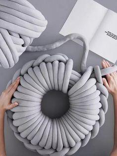 Cotton Yarns Manual Knitting Doughnuts Pillow – oshoplive