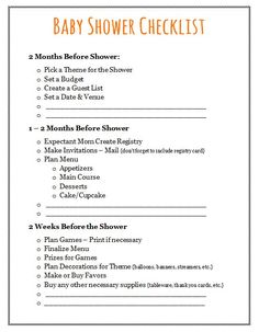 baby shower checklist to help plan the perfect baby shower party ...