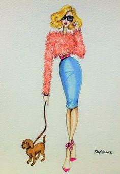 ORIGINAL Fashion Illustration-Stylish Girl by loveillustration on Etsy https://www.etsy.com/listing/208241167/original-fashion-illustration-stylish