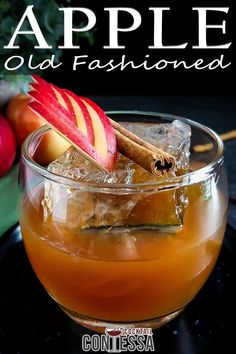 Fresh apple cider from the orchard makes the best cocktails, and in this Apple Cider Old Fashioned I'm using apple molasses, a concentrated reduction of apple cider, to build vibrant apple flavor into the whiskey cocktail. While it does take an extra step to make it, I've used apple molasses before in cocktails and the flavor from it is unlike any other apple cider syrup I might make.   @cocktailcontessa #applecidercocktails #oldfashionedcocktails #craftcocktails #fallcocktails #holidaycocktails Bourbon Cocktails, Craft Cocktails, Holiday Cocktails, Bourbon Whiskey, Fruity Alcohol Drinks, Drinks Alcohol Recipes, Molasses Recipes, Apple Recipes, Easy Mixed Drinks