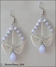 Jewelry Making Supplies Astraea Earrings by ~manson-brown on deviantART, can maybe be made to look like bows with arrows - Wire Jewelry, Jewelry Crafts, Beaded Jewelry, Jewellery Box, Jewellery Earrings, Jewellery Making, How To Make Earrings, Bead Earrings, Chandelier Earrings