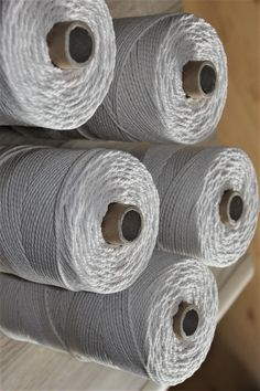 Cotton rope - 3mm diameter, twisted Cord for Macrame projects