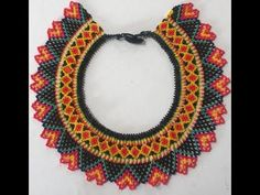 Bib Necklaces, Beaded Jewelry Patterns, Jewelry Making Tutorials, Diy Videos, Hama Beads, Crochet Earrings, Projects To Try, Make It Yourself, Youtube