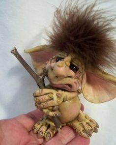 polymer clay hobbit