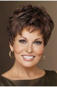 Winner by Raquel Welch is under two ounces in weight, a pixie with barely waved layers that can be teased up or combed down. Features razor-like tapering of barely waved layers. With a firm shake this Raquel Welch style is ready to wear right out Short Grey Hair, Short Hair With Layers, Short Hair Cuts For Women, Short Hairstyles For Women, Gray Hair, Long Hair, Pixie Hairstyles, Braided Hairstyles, Pixie Haircuts