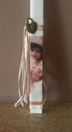 Easter Candle, Ladder Decor, Decoupage, Diy And Crafts, Diy Projects, Candles, Spring, Manualidades, Easter