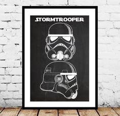 Star Wars Stormtrooper, Toy Helmet Decor, Star Wars Patent Print Poster, Star Wars Wall Decor, Star Wars Art