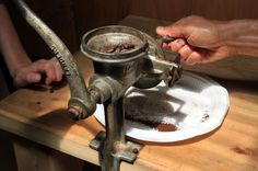 monteverde coffee farm coffee grinder   - Costa Rica