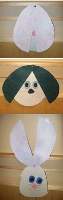 This Easter Egg double as the Easter Bunny! What a fun art project for your last minute Easter planning!!