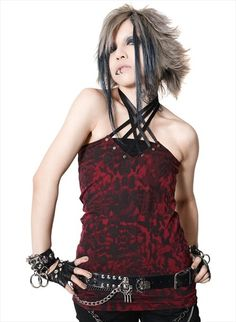LACING UP STUDS Camisole (M) SA68246-103 SEX POT ReVeNGE APPAREL. See more at http://www.cdjapan.co.jp/apparel/ #punk #japanesefashion