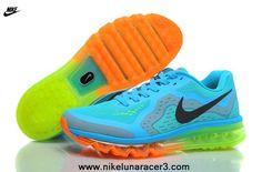 Buy Nike Air Max 2014 Mens Shoes Sky Blue Green