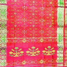 Tissue border in light red fancy type patola silk sarees Single ikkat.patola # handicraft gujarat #nationalhandloomday #wearingtoday #craft #silk #orignal # handloom handicraft # handloomtextile #gujarti #wearingtodayatwork # womens clothes # traditional # exclusive costumes # fashion designer # bridal special # modelling of patola silk sarees#patolandia #ORIGNAL # boutique # latest # fancy# ladies fashion # handmade # # home shop# village craft# weavers # scarf# plaid#gujarti dupatta#odhni#…