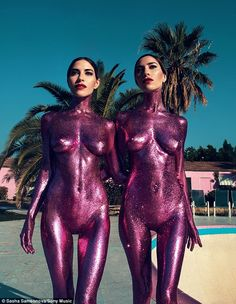 Positive response: After previously being the victims of online 'bodyshamers', The Veronicas are thrilled that their new single cover for In My Blood in which they pose naked has been more positively received by fans