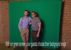 The portable green screen background I use at my events.