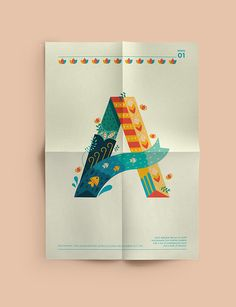 09 decorative type posters by Shaivalini Kumar via #Behance