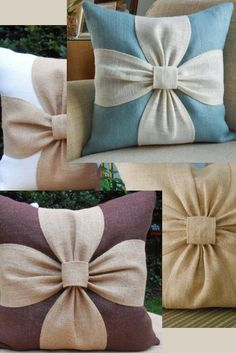 Cute Bowknot Throw Pillow Covers X Will Slip On Your ! niedliche bowknot-wurfs-kissenbezüge x gleiten auf ihrem ! couvre-oreillers mignons bowknot throw x va glisser sur votre ! las lindas fundas de almohada de tiro bowknot x se deslizarán en tu Bow Pillows, Diy Throw Pillows, Diy Pillow Covers, Fall Pillows, Burlap Pillows, Sewing Pillows, How To Make Pillows, Decorative Pillow Covers, Custom Pillows