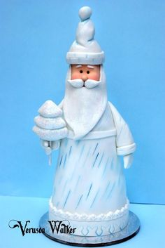 Santa Claus - Mini Christmas Cake - by Verusca Walker @ CakesDecor.com - cake decorating website