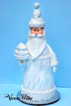 Santa Claus - Mini Christmas Cake - by Verusca Walker @ CakesDecor.com - cake decorating website