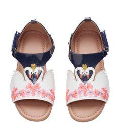 Sandalen met borduursel   Wit/zwaan   Kinderen   H&M NL