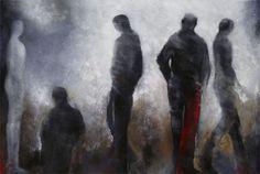 AMIS DE RENCONTRE - Margarita Lypiridou - 48'' x 72'' - acrylique sur toile
