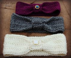 *Tips ~  This headband is worked In The Round and in Back Loops  Wintertide Headbands Free Pattern
