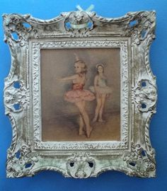 vintage Shabby cottage French Ornate Picture frame resin antique cream/gold  #2  #FrenchCountryProvincial