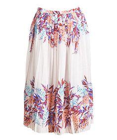 Look what I found on #zulily! Cream Isla Midi Skirt #zulilyfinds