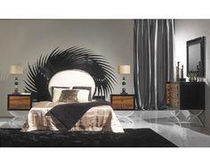 Dormitorio de matrimonio lacado con detalles en metal