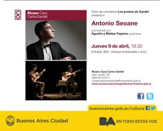 """Ciclo de conciertos """"Los poetas de Gardel"""