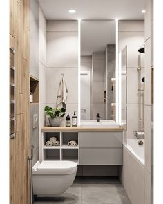 Stunning Simplicity: Creating A Minimalist Bathroom Bathroom Interior, Bathroom Decor, Bathroom Vanity Makeover, House, Bathroom Design Small, Bathroom Interior Design, Bathroom Renovations, Bathroom Design, Toilet Design