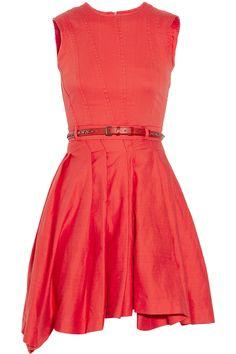 Preen Line Prym belted stretch-cotton drill dress