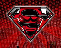 Super Bulls, Superman meets Bulls, Chicago Bulls, Chicago, Bulls, Da Bulls, Seeing Red, Comic Bulls, Skyline, NBA, Dc Comics, Basketball - Edit Listing - Etsy