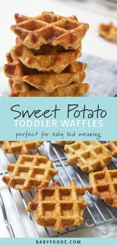 health snacks These mini sweet potato waffles are perfect for babys first finger foods - easy to grasp, easy to gnaw on and easy for you to enjoy right along with them! Theyre a delicious and healthy breakfast, snack, and also great for school lunches! Healthy Breakfast For Kids, Healthy Snacks, Kids Breakfast Recipes, Easy Kid Breakfast Ideas, Breakfast Finger Foods, Healthy Finger Foods, Healthy Breakfasts, Eating Healthy, Clean Eating