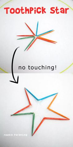 Toothpick Star Science Experiment – This science experiment is simply magical. S… Toothpick Star Science Experiment – This science experiment is simply magical. Show your kids how you can turn broken toothpicks into a star without touching them. Water Science Experiments, Science Kits, Teaching Science, Science For Kids, Science Fun, Summer Science, Forensic Science, Physical Science, Science Classroom