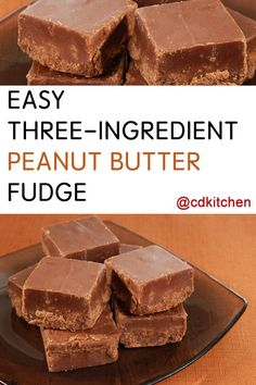 Made with semisweet chocolate chips, peanut butter, sweetened condensed milk | CDKitchen.com