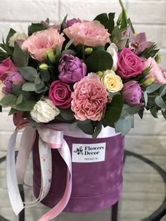 Flower Bouquet Boxes, Flower Box Gift, Floral Bouquets, Luxury Flowers, Pink Flowers, Corporate Flowers, Flower Boutique, Hanging Flowers, Flowers Nature