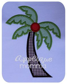 Palm Tree Applique Design