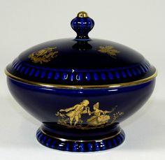 BAREUTHER - Dose BONBONIERE - Kobalt-Blau Gold - BAROCKER SZENE - BAVARIA | eBay