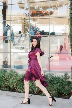 Timeless Holiday Style Countdown Look #2 is All About Red! The most-desired color of the season: a flash of red or head to toe all-red everything and wearing it to a black-tie-affair makes a strong statement. I'll be wearing this red satin-y dress by... ##stuartweitzman #holidaystyle #ootd #lablogger #bloggerstyle #holidaystyle #reddreses #holidaydresses #coldshoulderdresses