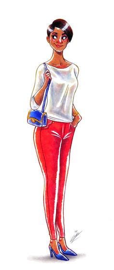 FASHION GIRLS SKETCHES by Olivier SILVEN, via Behance