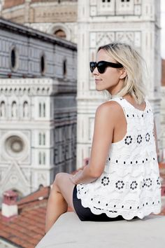 Image Via: Damsel In Dior in the Walina Lace Top #Anthropologie