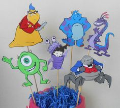 Monsters Inc Party Centerpiece by OurPartyPantry on Etsy