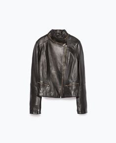 Image 8 of LEATHER TAILORED JACKET from Zara