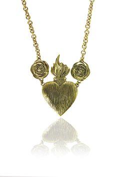 bartonandbell Heart and Rose Necklace  # jewellery barton